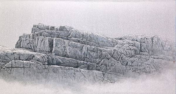 梁震明 奇石乾坤系列之二 53x99cm 2017