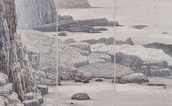 梁震明 岩之成理99x153cm 2013