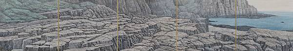 梁震明 與石 24x135cm 2012