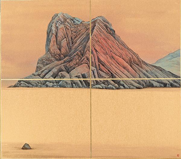 梁震明 龜山島 48x54cm 2012