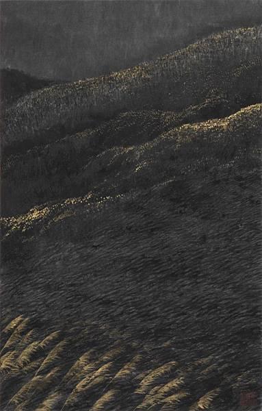 梁震明 黑色金芒 30x19cm 2008