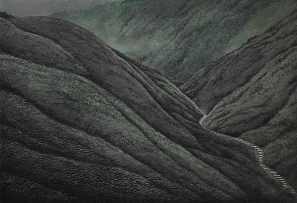 梁震明 綠草黑世界 97x141cm 1995~2009