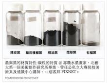 墨與黑的材質特性-碳粒的特質