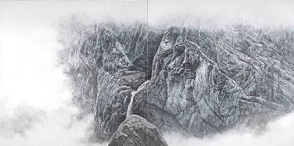 奇石乾坤系列之五 87x174cm 2018