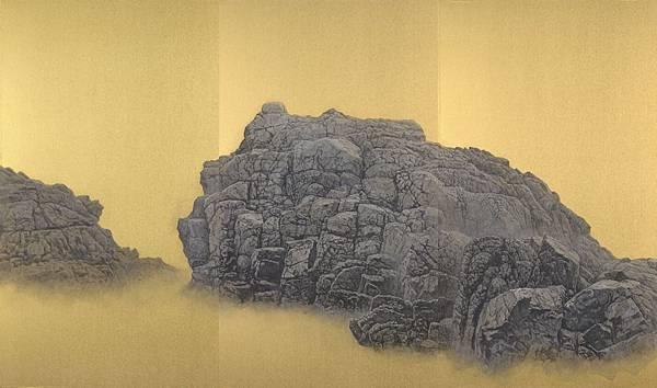 梁震明 奇石乾坤系列之六 168x99.3cm 2018