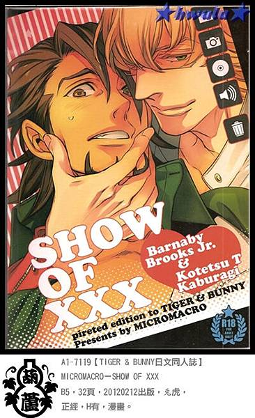 A1-7119【TIGER & BUNNY日文同人誌】MICROMACRO-SHOW OF XXX