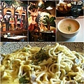 卡帛素食的南瓜蘑菇起士義大利麵 20110318