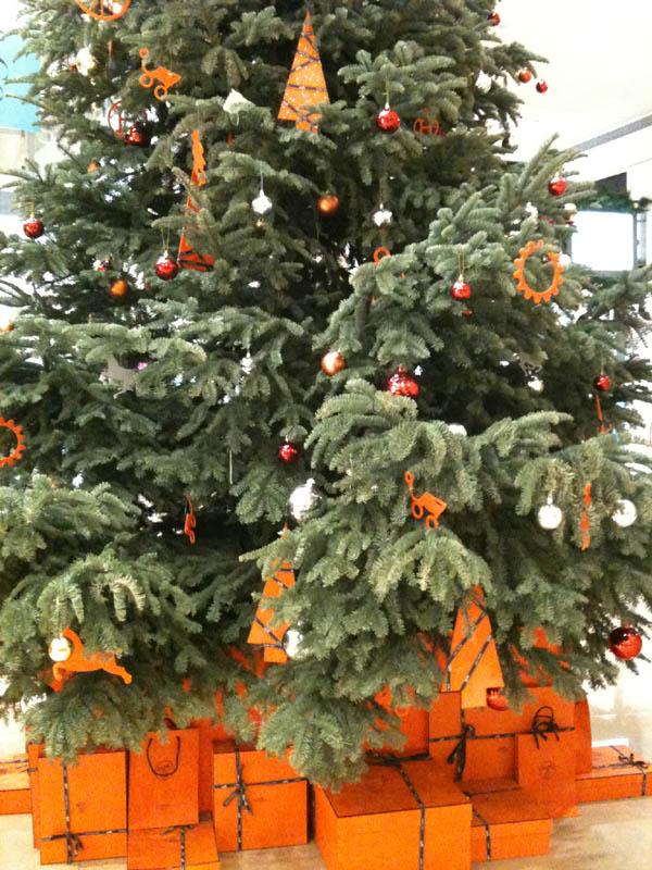 101商場裡面的聖誕樹