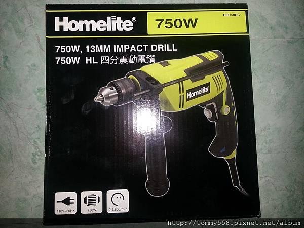 Homelite 750W 13MM 四分震動電鑽 (HID750RS)