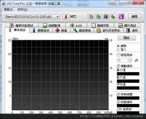 Portable HD Tune Pro 5.00 繁體中文版