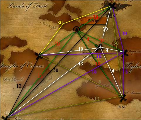 省AP航線圖