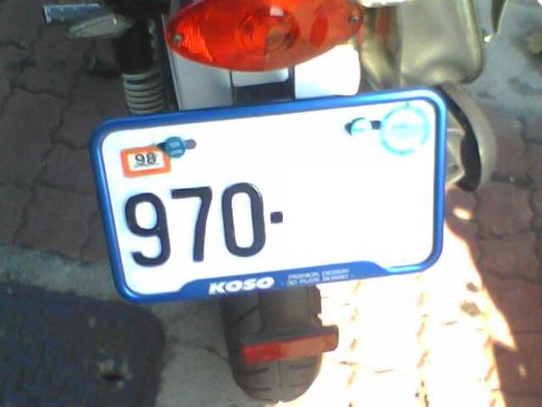 車牌框~2KOSO藍色