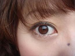 深咖啡睫毛膏妝 8