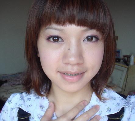 楊承琳 紫色眼妝