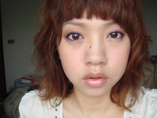 橘 X 紫  眼妝 : )