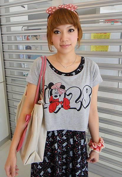 2011.04.24. 和阿比約會之兩件式米妮長裙裝 ~ *