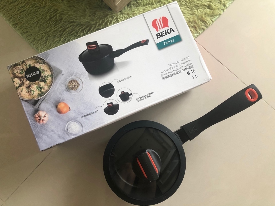 【廚具推薦】我的極品泡麵鍋@BAKA貝卡黑鑽陶瓷單柄附蓋湯鍋♡