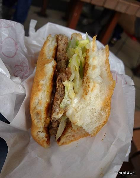 乾扁的麥當勞韓式漢堡