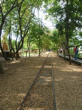沿著長長的舊鐵道慢行,別有一番滋味。.JPG