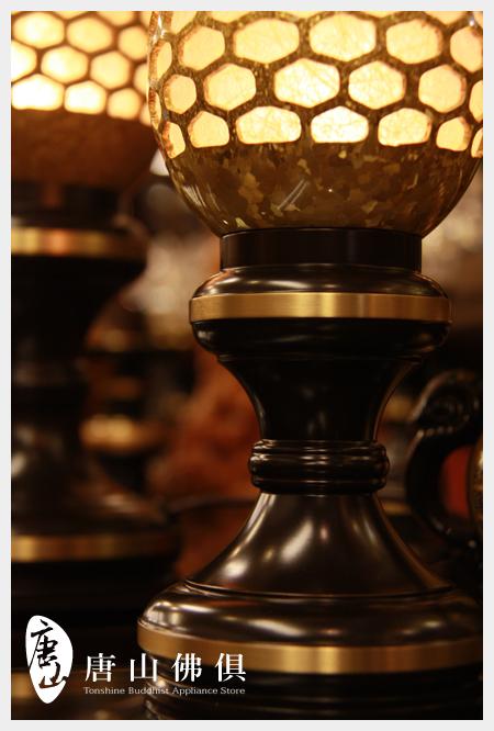 【唐山佛俱】結晶神社燈(聚財黃)台座特寫
