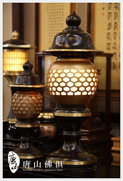 雙色黑粉晶神社燈(大)(小)