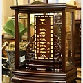 手工製-梢楠古式祖龕(紫檀色)1尺