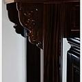 神桌神像畫像佛具用品展示-印尼蘇拉維西黑檀明式佛桌(桌角特寫)