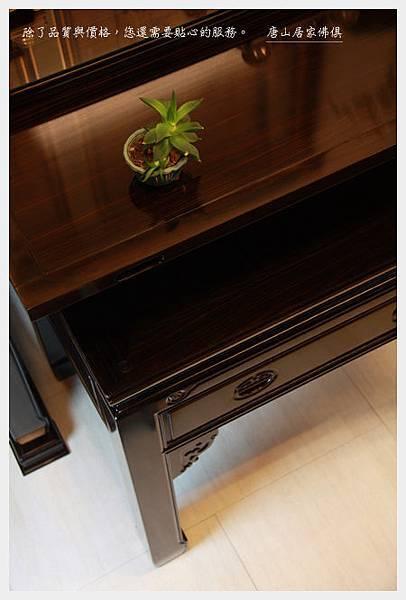 神桌神像畫像佛具用品展示-印尼蘇拉維西黑檀明式佛桌(水果盤特寫)