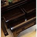 神桌神像畫像佛具用品展示-印尼蘇拉維西黑檀明式佛桌(抽屜特寫)