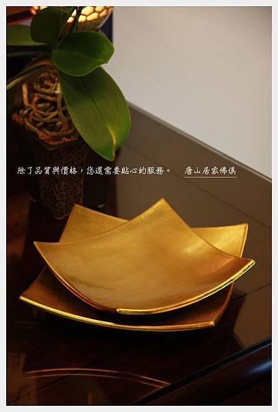佛桌佛俱神桌用品-漆器純金水果盤