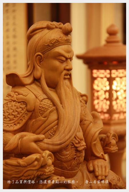 佛具用品佛桌神像佛堂展示~牛樟關聖帝君(頭巾)1尺3(右側臉)