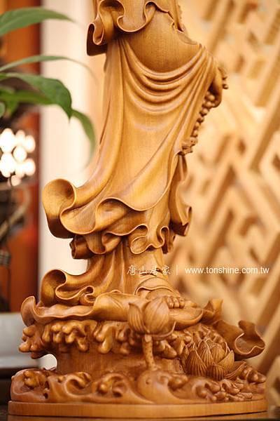 台灣梢楠木  尺6神明佛像雕刻-慈航觀世音菩薩
