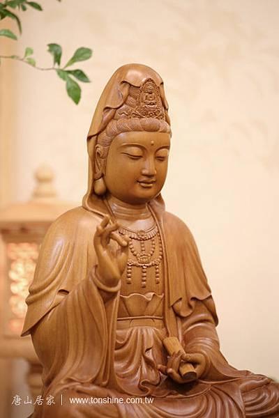 台灣梢楠木雕神明佛像 1尺6觀世音菩薩