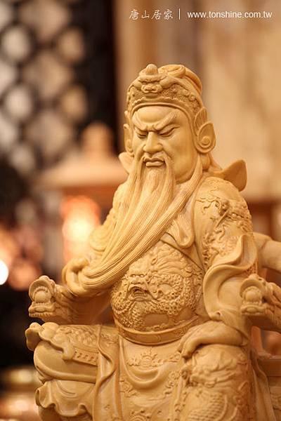 樟木雕刻關聖帝君神明神像 (1尺3)