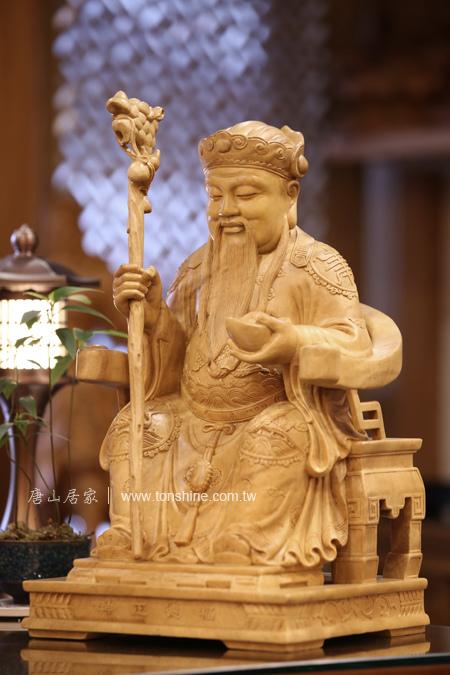 持仗福德正神-土地公神像雕刻