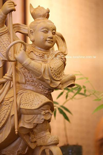 木雕神明尺3樟木三太子