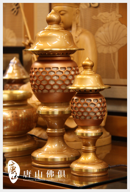 雙色粉晶珍珠神社燈(大)(小)