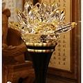 寶華水晶蓮花燈-黃水晶