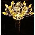 LOTUS水晶蓮花燈-黃水晶-亮燈