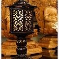 純黑檀木燈