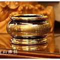 唐山居家佛俱-雙色心經淨爐(金字)圓底座3寸