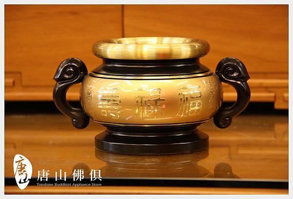 唐山居家佛具-3寸7粉金雙色祖先爐(寶華)