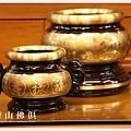 唐山居家佛具-5寸半粉金雙色心經爐搭配3寸7粉金雙色祖先爐