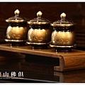 雙色蓮花供杯三件(金字)