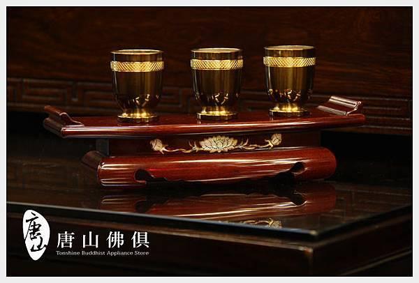 古銅富貴供杯