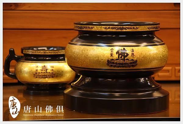 唐山居家佛具-5寸半七寶銅結晶素面佛爐(古殿)