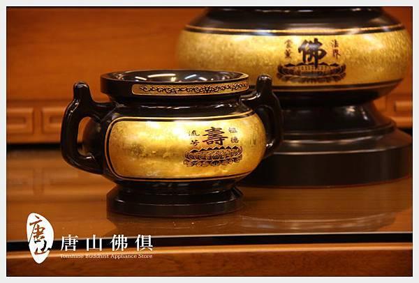 唐山居家佛具-3寸半七寶銅結晶素面壽祖爐(古殿)