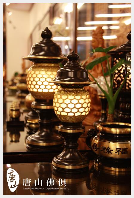 【唐山佛俱】結晶神社燈(聚財黃)