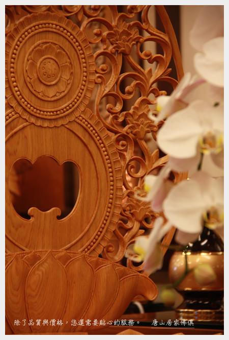 佛具佛像佛桌展示-台灣檜木阿彌陀佛2尺2(背光特寫)