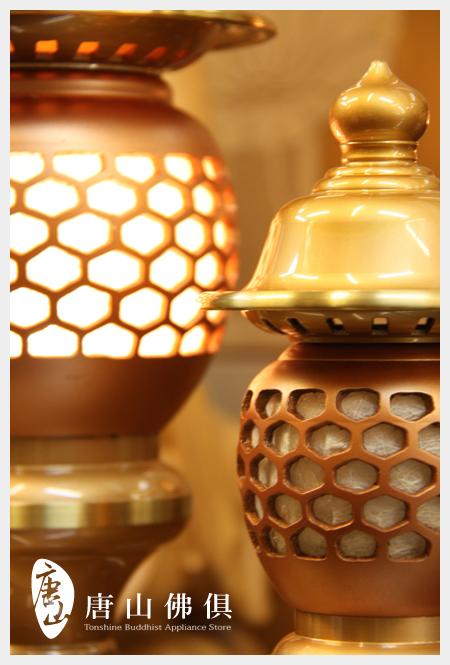 雙色粉晶珍珠神社燈(特寫)